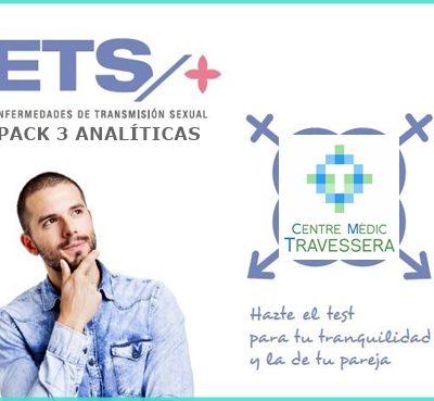 Pack de 3 analíticas ETS